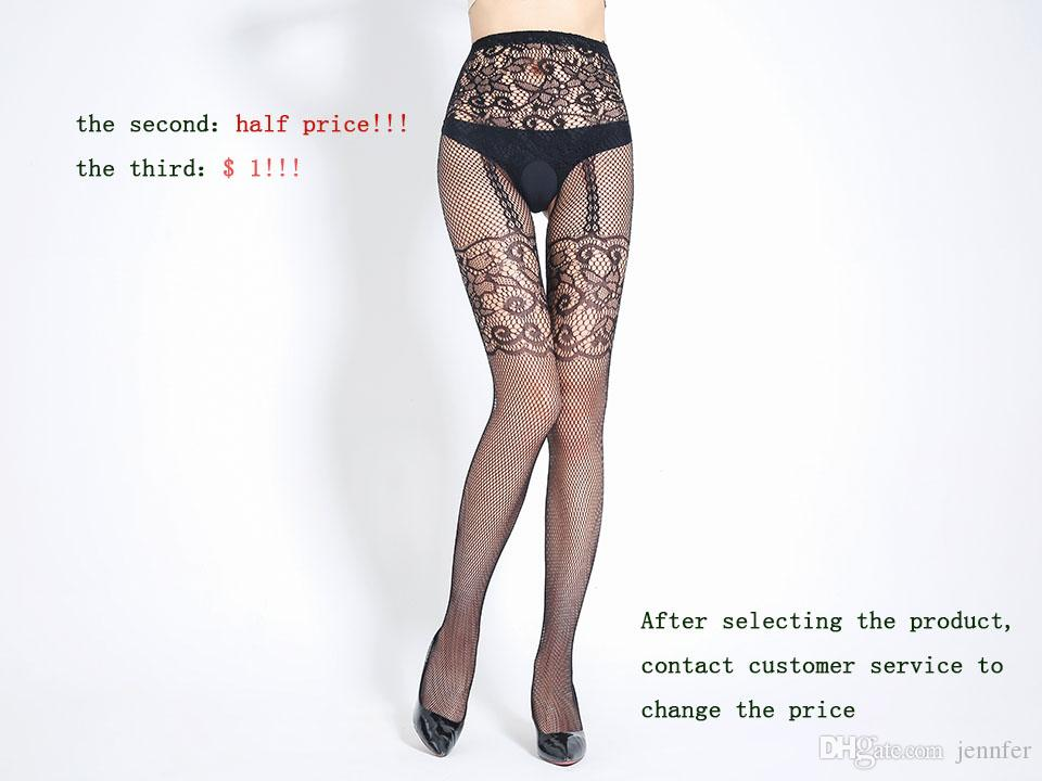 1a6c30d6c7c Hot Black Fishnet Elastic Stockings Transparent Stripe Lace Lingerie ...