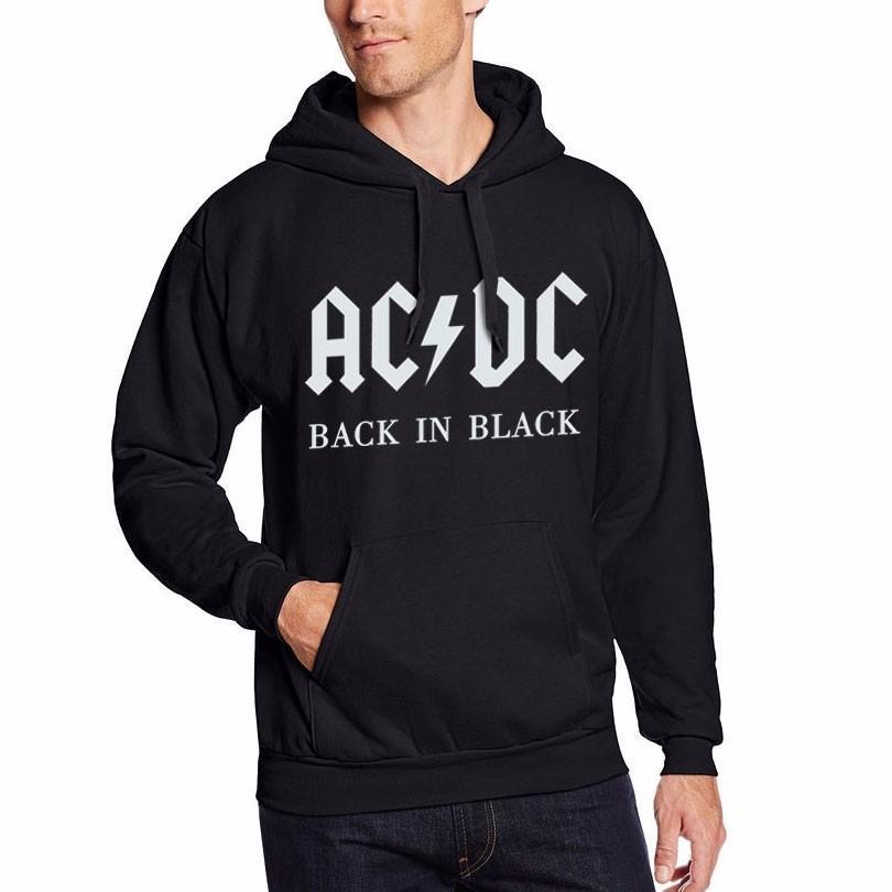 hot sales cc915 6b0c6 Felpa con cappuccio AC / DC Band Rock Felpa da uomo manica lunga in cotone  con cappuccio pesante per uomo Tuta Pullover maschile Nuovi arrivi