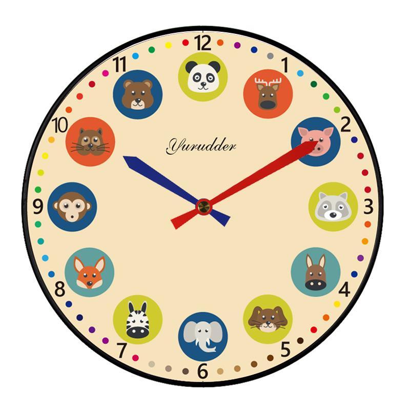 New Arrival No Frame Mdf Wall Clock Modern Animal Cartoon Design