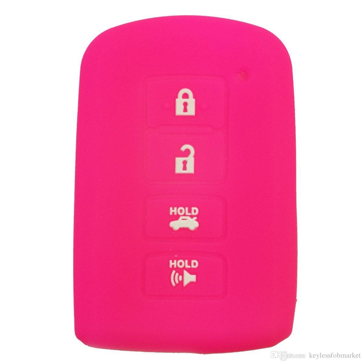 Custodia protettiva in silicone Smart Key Fob Custodia protettiva Toyota Highlander RAV4 Camry Avalon Corolla 4 pulsanti Smart portachiavi telecomando