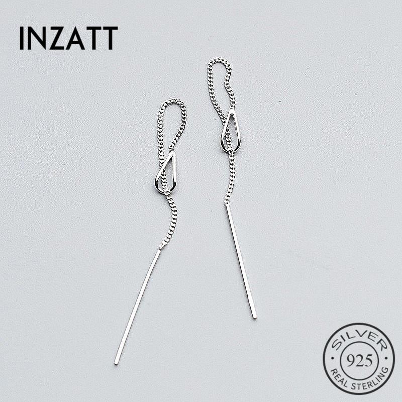 3e86dafd1 2019 INZATT Real 925 Sterling Silver Elegant Chain Tassel Stick Bar Dangle  Drop Earrings Personality Fine Jewelry For Women Party From Milknew, ...