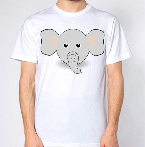 0ffca9bcded47 Elephant Face Trunk Ears Cartoon T Shirt Funny New Animal Top Summer Short  Sleeves Cotton T Shirt Print T Shirt Mens Short Sleeve Hot Buy Designer  Shirts ...