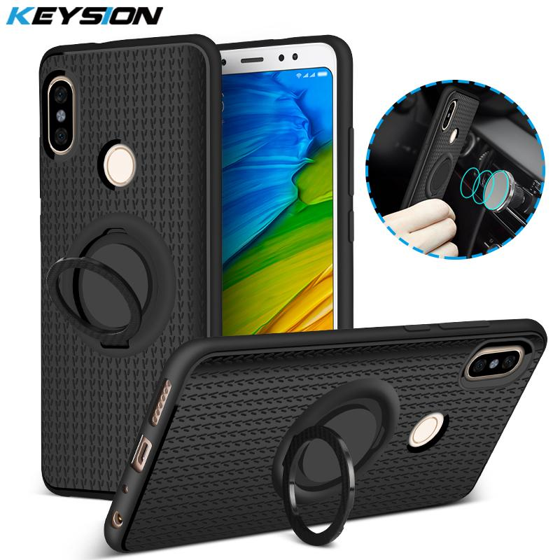 info for 07d02 67d01 Case for Xiaomi Note 5 Pro Car Magnetic Suction Bracket Finger Ring Soft  TPU Back Cover for Redmi Note 5 Global Version
