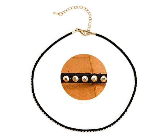 Fashion Gothic Snap Street Leather Copper Alloy Multi Layers Choker Necklace Original Creative Design DIY Punk Choker Jewelry Necklace