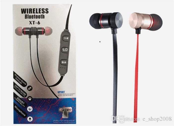 Offerta Telefonini NUOVO XT 6 Magnete Bluetooth Cuffie Magnetiche Senza  Fili Sport Vivavoce Auricolari Stereo Cuffie BT 4.1 Con Microfono Iphone 7  Samsung ... 8381c31475fa