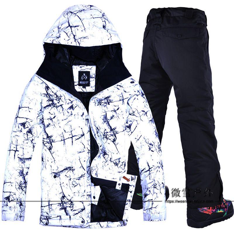 7f49c49a49 2019 2018 Men Ski Jacket Pant Skiing Snowboard Clothing Trouser Windproof  Waterproof Outdoor Sport Wear Male Super Warm Suit Winter From Masn