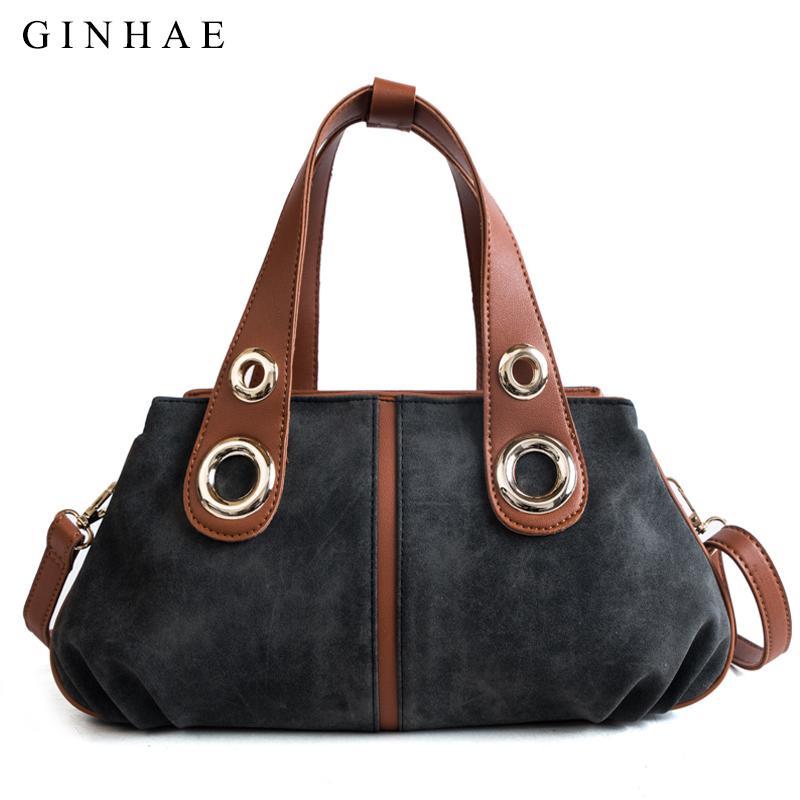 Wide Handle Women Casual Tote Bags Vintage Scrub Leather Handbags Large  Capacity Travel Shoulder Bags For Women 2018 Hobo Bolsas Handbag Brands  Cheap Bags ... 390a9202b7dcd
