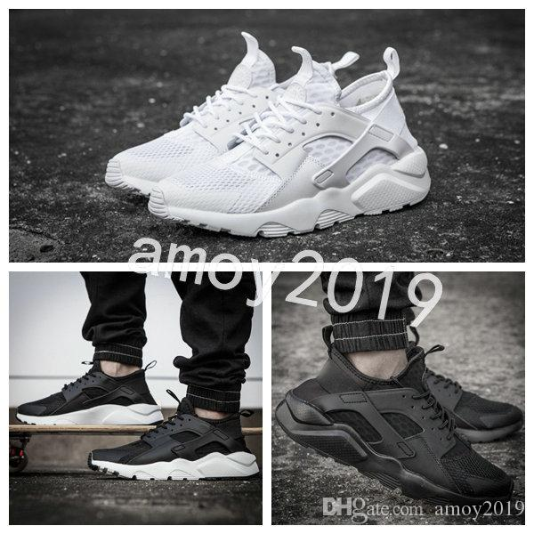 ec35209845dc New 2018 Air Huarache 4 Men Women Running Shoes All White Huraches Zapatos  Ultra Huaraches Mens Trainers Hurache Sneakers Size 36 46 Best Running Shoes  ...