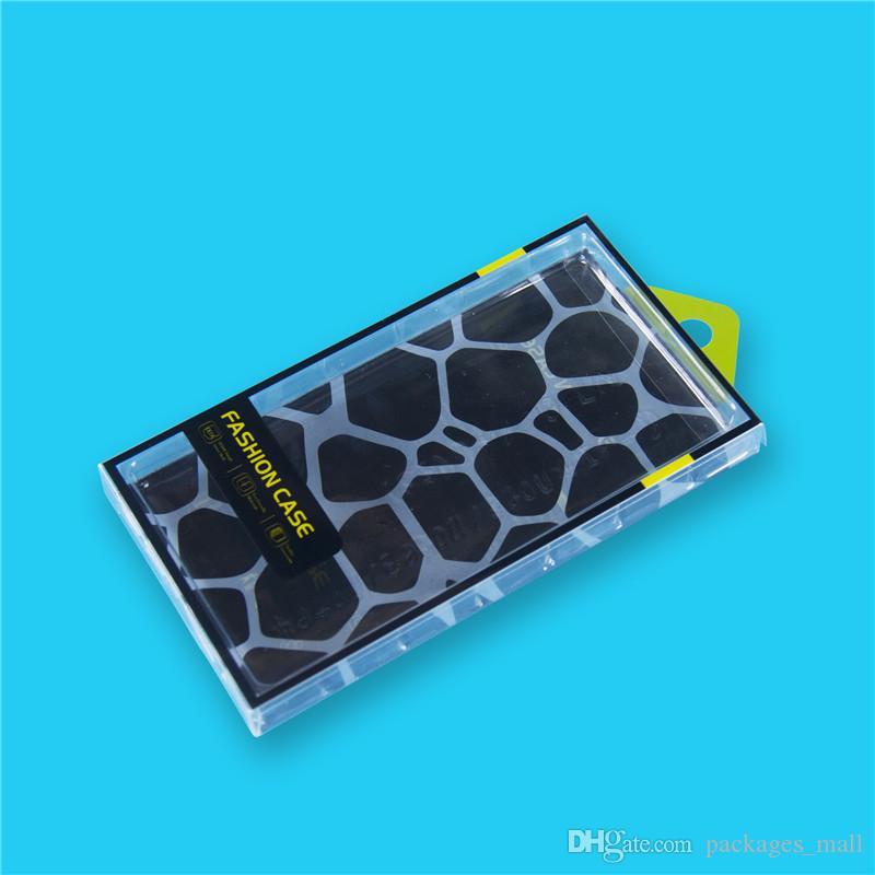 Paquete de caja de teléfono móvil universal PVC PLÁSTICO PLÁSTICO MENOR Caja de embalaje con ampolla interior para iPhone Samsung HTC Caja de teléfono celular Ajuste de 5,7 pulgadas