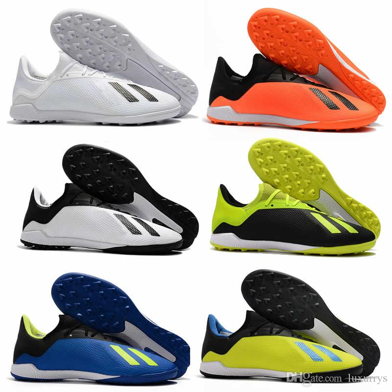 2018 Ace Predator 18.3 TF Indoor Soccer Cleats Chaussures De Football Boots  Men High Soccer Shoes Fg Outdoor Predator X18 Football Shoes Sport Shoes ... a57af27fd0b