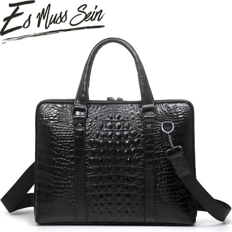 be4ace89b5ab EsMussSein Men Vintage Real Leather Alligator Briefcase Laptop Work  Shoulder Bag Messenger Business Bag Satchel Daily Work Patricia Nash  Handbags Womens ...