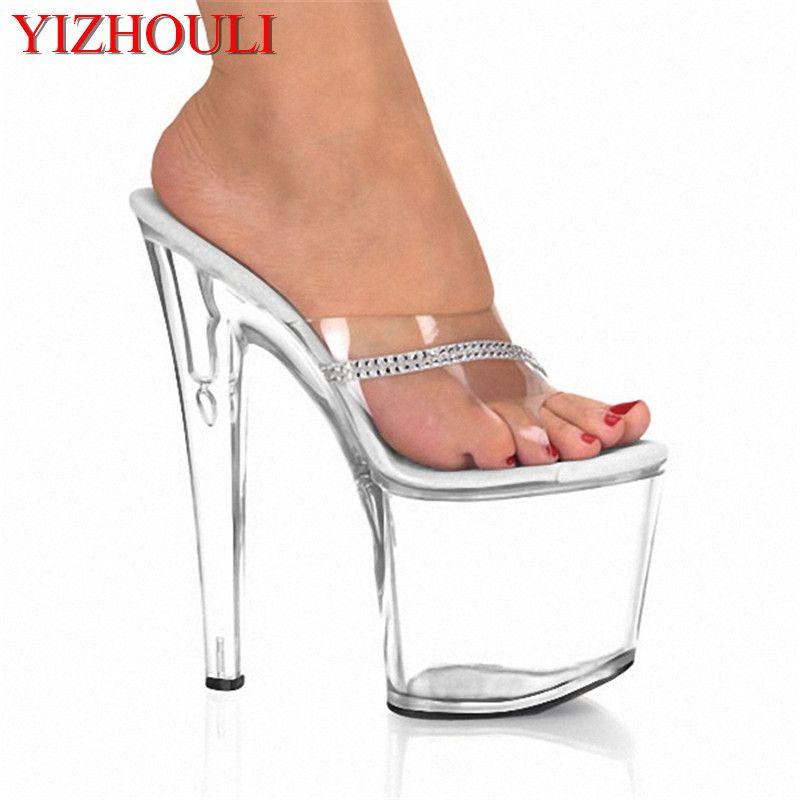 d10841f9974 8 inch high heels Slippers sexy Platform 2018 models super- heels women s  shoes 20 cm Thin Women s Dance Shoes
