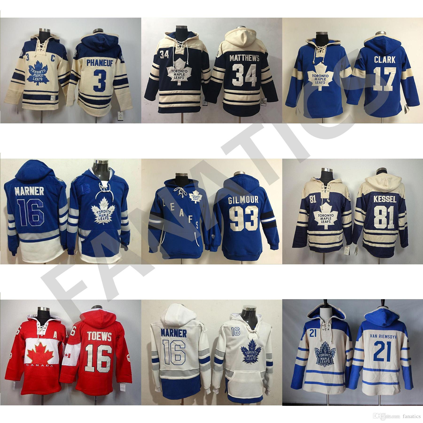 025df1868 Mens Womens Kids Custom Toronto Maple Leafs Hoodies 21 James Van 81 Phil  Kessel 34 Auston Matthews 91 John Tavares 31 Frederik Andersen 19 Joffrey  Lupul ...