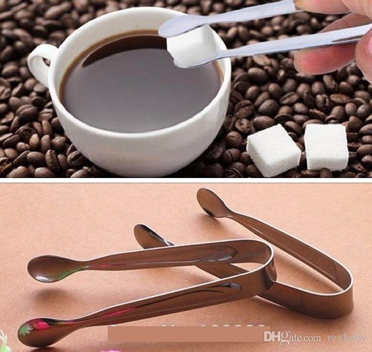 Mini Ice Clamp Edelstahl Kaffee Zucker Zange Tool Bar Barbecue BBQ Clip Küche Zubehör tragbar