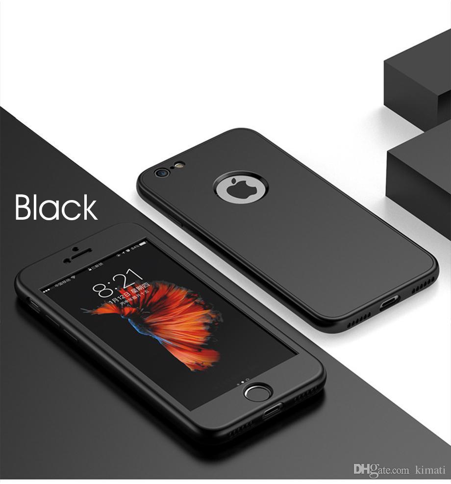 360 graus ultra-fino de proteção completa do corpo macio casos de silicone tpu para iphone x 6 6 s 7 7 mais 8 8 plus case tampa traseira