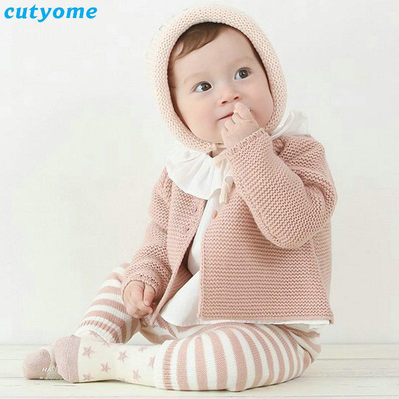 Newborn Baby Cardigan For Boys Girls Spring Autumn Infant Girl Knits ...