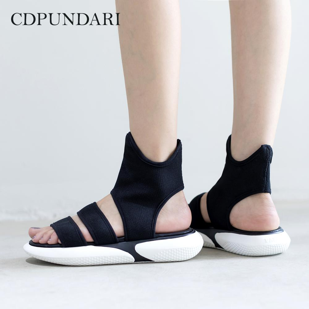 9854d4f3b3b Wholesale Black Stretch Fabric Gladiator Sandals Women Flat Sandals Ladies  Platform Sandals Summer Shoes Woman Platform Heels Black Sandals From  Happyjoin