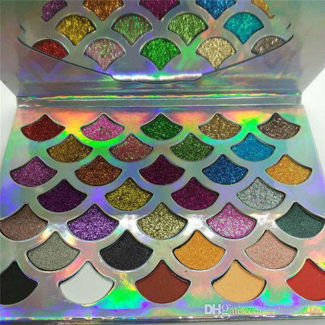 HEISSE eben Markenschönheit Fischaugenschatten Funkeln-Prisma-Palette durch Cleof Cosmetics Fish Scales entwerfen freies Verschiffen