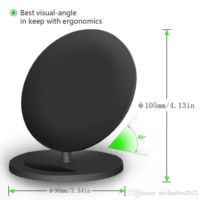 Ultra thin Round Mat Qi Wireless Charger For iPhone 8 Plus X Fast Transmitter Plate Stand Pad For Samsung Galaxy S7 Edge S8 Plus Note8