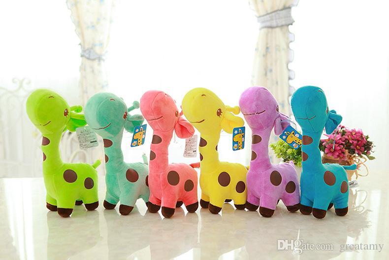 Nuovo 25 centimetri Peluche Giraffa Peluche Animale Caro Bambola Bambino Bambino Bambino Compleanno Regalo Felice i le scelte