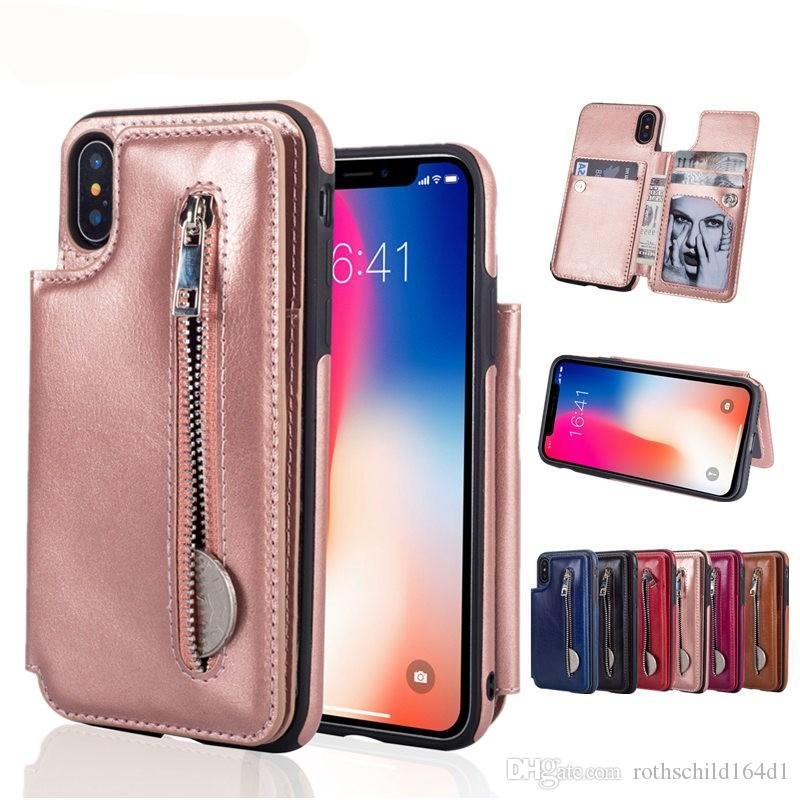 Luxury Wallet Cover Case For Iphone Xs Max Xs Xr 6 6s 7 8 Plus Pu
