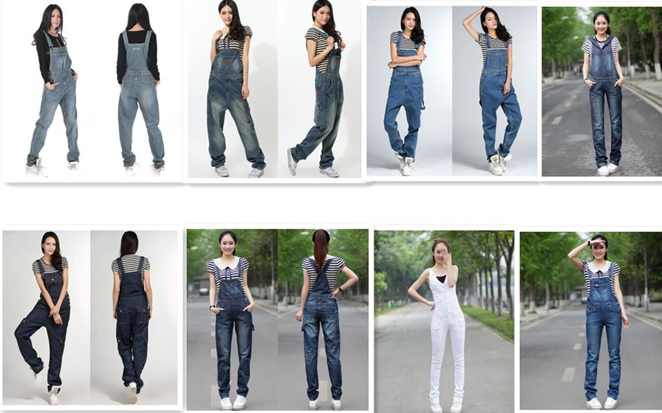 New Fashion Safari Style Long Sleeve Women High Quality Denim Jeans Jumpsuit And Rompers Plus Size Trousers S-XL