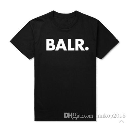 Levantamiento de 2019 de una camiseta balr tops balr mujeres de los hombres camiseta 100% algodón Fútbol fútbol ropa deportiva gimnasia BALR