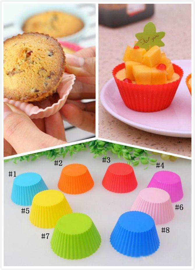 Grosshandel Neuheit Silikagel Muffin 8 Farbe Kuchen Tasse Schokolade
