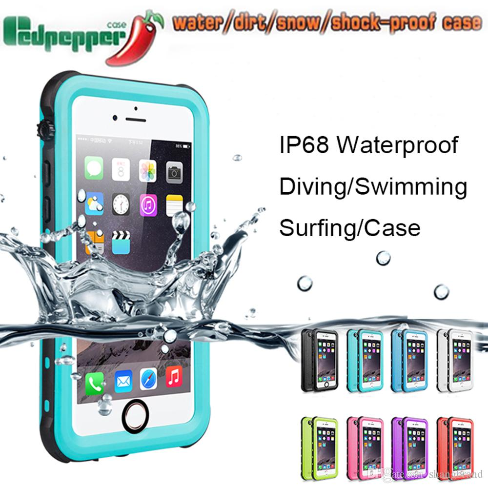 finest selection 00b58 0b579 Redpepper Waterproof Case For Iphone X 8 7 6 6S Plus Samsung Galaxy Note 8  S6 s7 edge s8 Shock proof cover