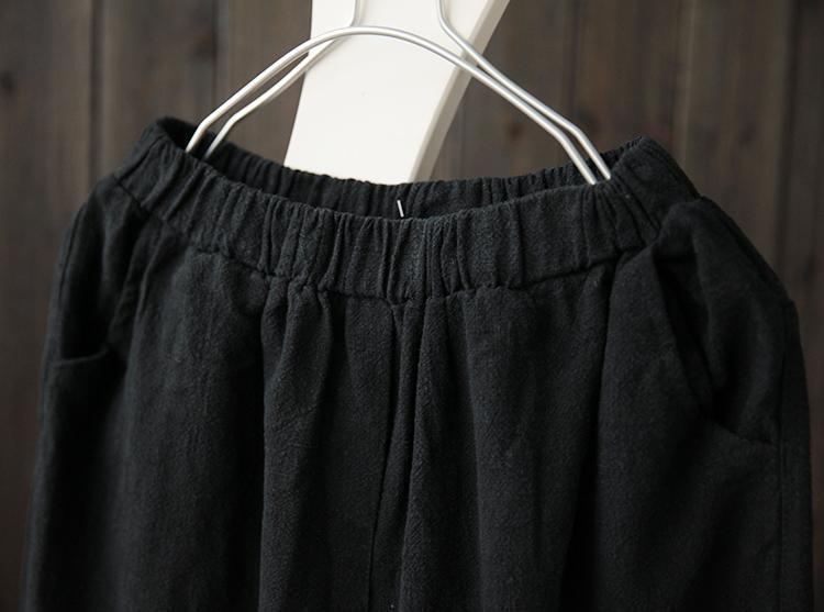 She Joy Женские льняные хлопчатобумажные шаровары Длина до щиколотки Художественные женские брюки Брюки женские Повседневные брюки-капри