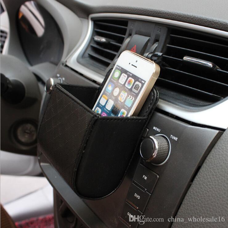 Wholesale Auto Car coin purse mobile phone Pocket Organizer Leak-proof Storage Box Organizer Small Auto Containers Accessories Supplies