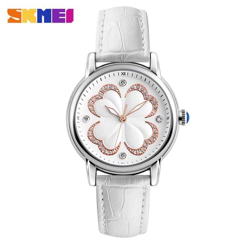 Compre Skmei Moda Simple Elegante Para Mujer Reloj Casual Analógico De  Cuarzo De Cuero Genuino A Prueba De Agua Relojes De Las Mujeres Señoras  Reloj De ... 57b65213adef
