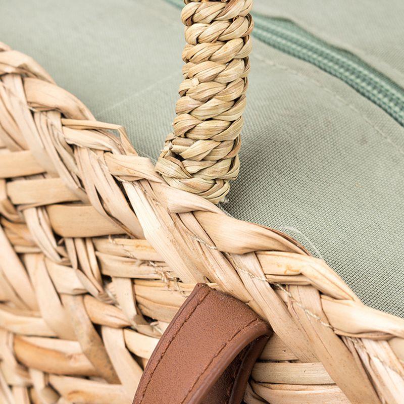 DCOS-novo Palha + Saco de Poliéster Moda Lazer Saco De Palha Qualidade Ofício Do Feriado De Papel De Tecelagem Bolsa de Praia Bolsa