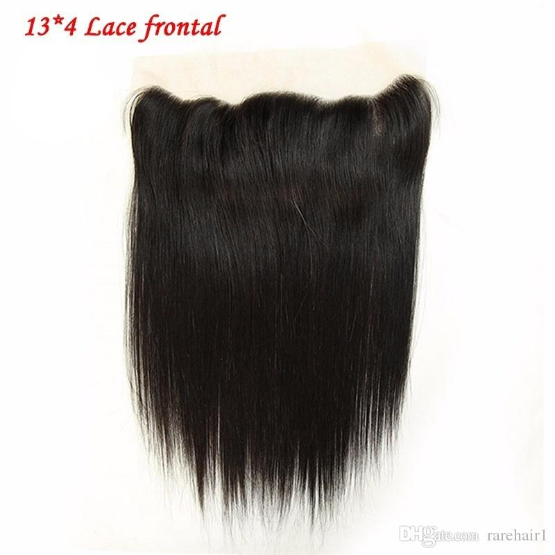 Brazilian Virgin Hair Straight with lace Frontal Ear to Ear Lace Frontal straight Virgin Hair 13x4 Frontal With 3 Bundles Deals