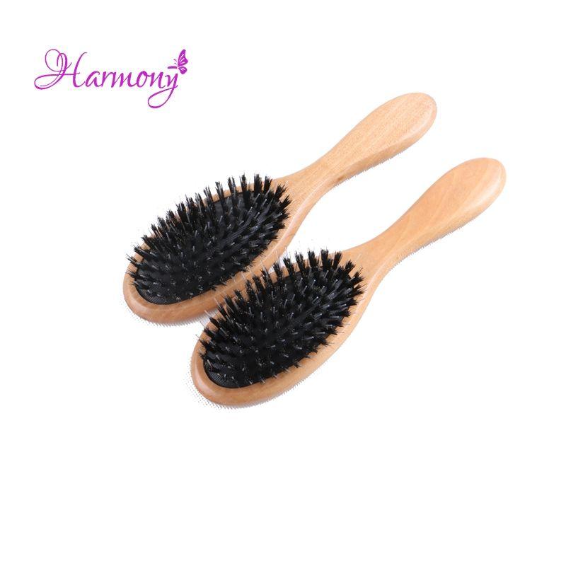 Harmony Plus Varnish Boar Bristle Hair Brush Hair Extensions Brush