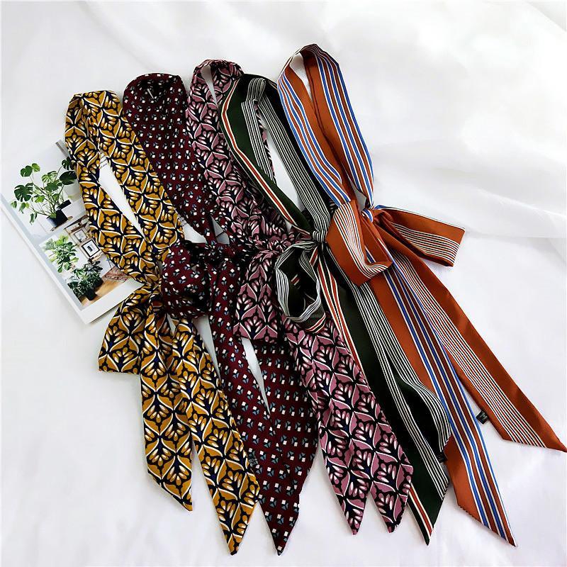 Großhandel Luxuxschal Frauen Art Und Weisedame Silk Schal Streifen ...