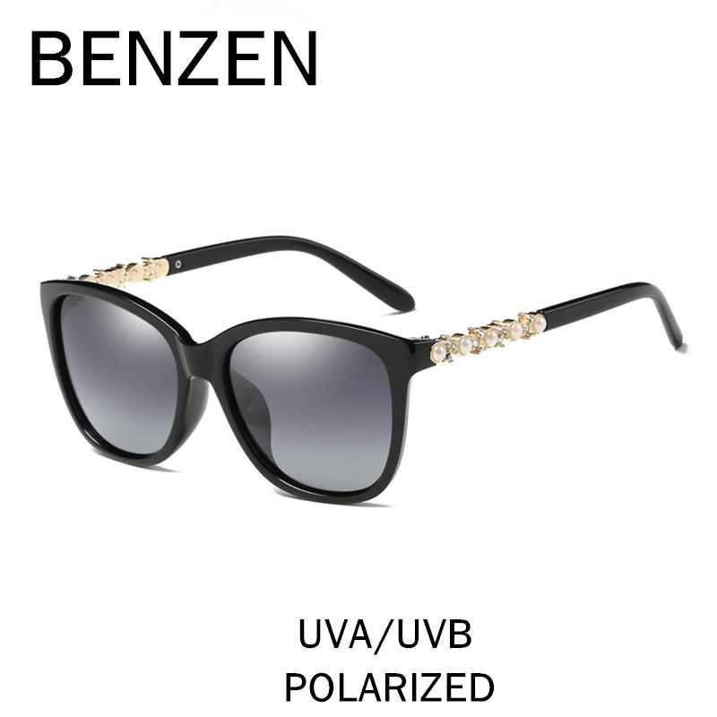 83c4c551e12 BENZEN Polarized Sunglasses Women Brand Designer Pearl Female Sun Glasses  Shades Ladies Driver Driving Glasses With Case 6380 D18102305 Round Glasses  ...