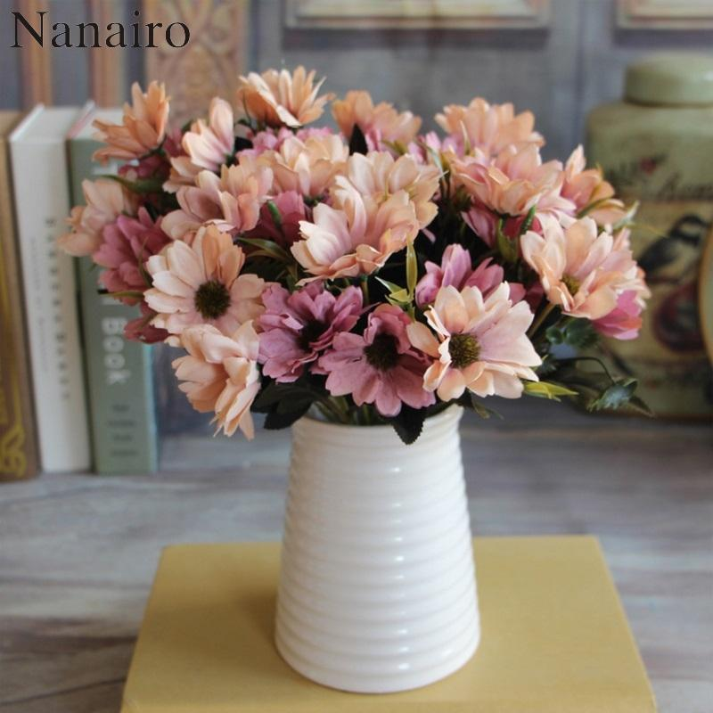 2018 10 heads european floral artificial daisy silk flower bouquet 2018 10 heads european floral artificial daisy silk flower bouquet spring daisy for wedding decoration cheap fake flowers from homegarden 2505 dhgate mightylinksfo