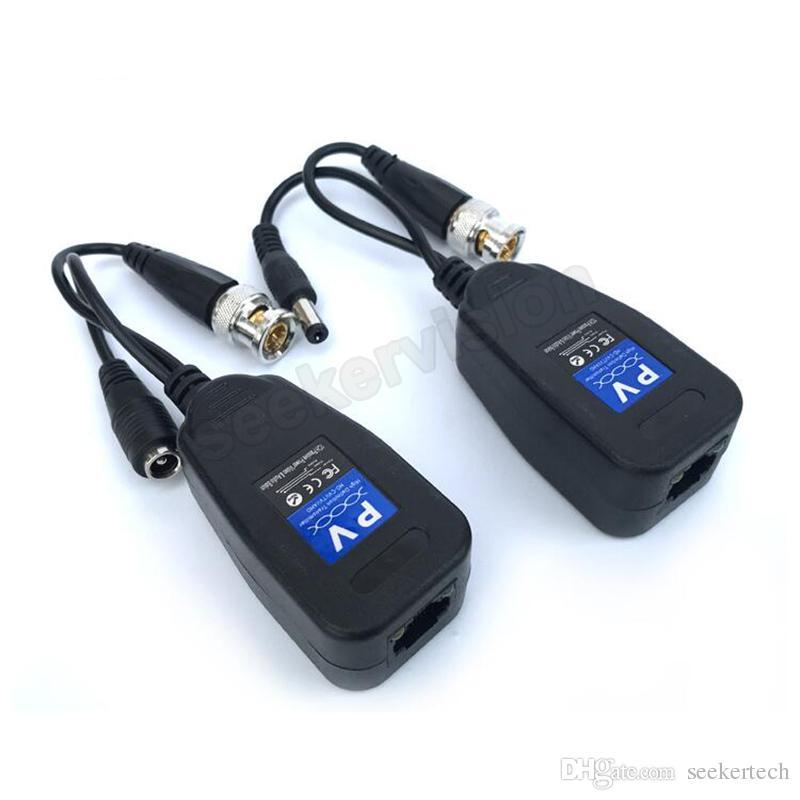 50 زوج / وحدة hd dc السلبي محوري cat5 bnc موصل الملتوية الملحقات الإرسال والاستقبال bnc utp cctv فيديو balun ل hd العهد tvi cvbs كاميرا cvbs