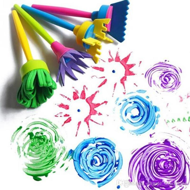 2019 Paint Tool Sets Flower Stamp Sponge Brush Set Art Supplies For Kids DIY Painting Accessories From Dhgate Xiaoqiang 115