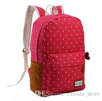 cdded1f9fc Canvas Schoolbag Backpack for Teenager Girls Mochila Female Travel ...