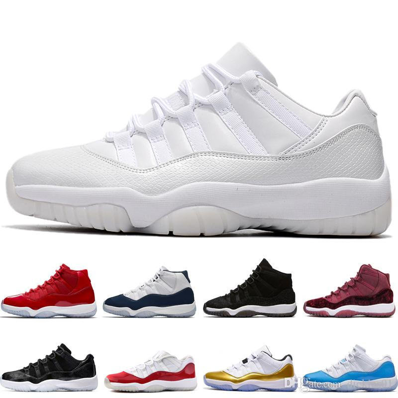 purchase cheap 3058b e5cb5 Großhandel Nike Air Jordan Aj11 Designer New 11s Prom Night Basketball  Schuhe 11 Männer Frauen Kappe Und Kleid Gym Red Space Marmelade Concord PRM  Heiress ...