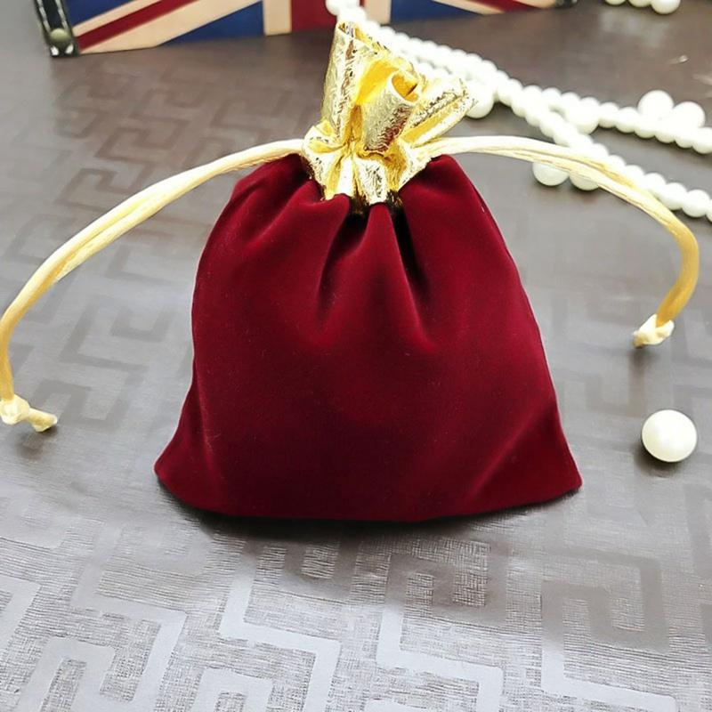 Sacchetto fortunato del festival di nuovo anno di Natale con il regalo libero di sorpresa, contenitore del sacchetto dei sacchetti del regalo di cerimonia nuziale dei sacchetti di regalo molle del piccolo sacchetto del regalo