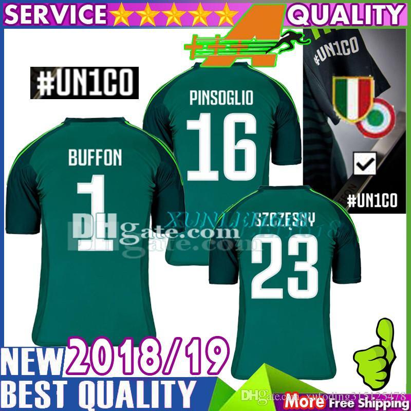 e05ddf4a472 2019 AAA Thait Quality BUFFON Soccer Jersey # UN1CO 18 19 JuventusING  Goalkeeper BUFFON PINSOGLIO SZCZESNY Football Shirts From  Xufoding315125478, ...