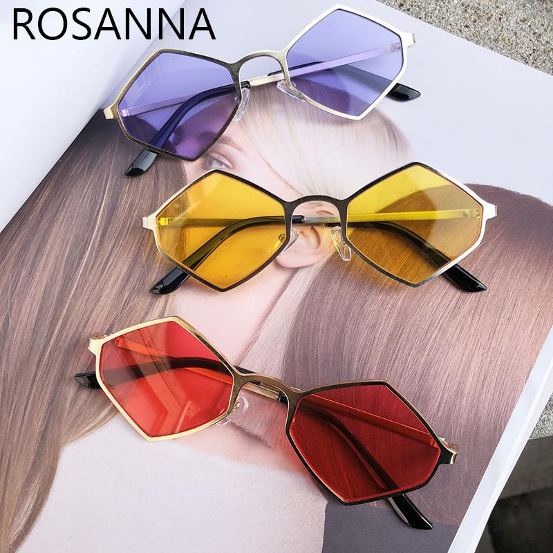 1438881fc15 ROSANNAFashion Sunglasses Women Brand Designer Small Frame Polygon Clear  Lens Sunglasses Men Vintage Sun Glasses Hexagon Glasses Prescription  Sunglasses ...