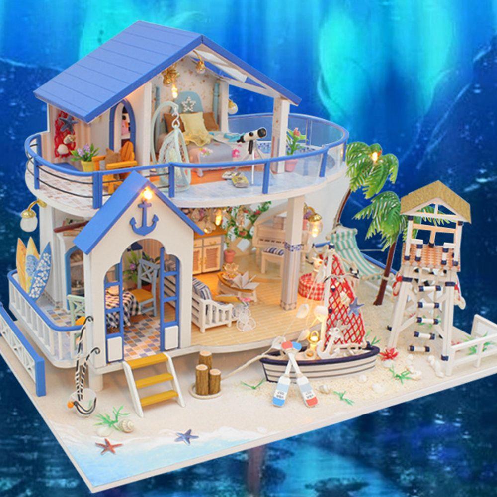 Handcraft 3D Puzzle Miniatur DIY Puppenhaus Montage Kit Landhaus Puzzles & Geduldspiele