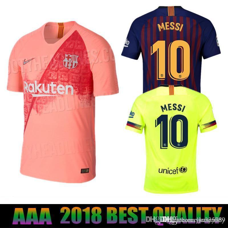 Compre S Xxl 2018 Barcelona VIDAL SUAREZ O.DEMBELE Camisetas 2018 2019  Camisas Coutinho Messi Camiseta De Fútbol 18 19 Local Away Tercera Camiseta  De Fútbol ... 0c56c178488