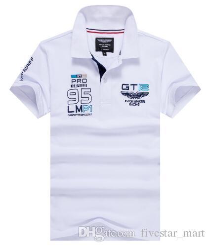 b8780d1f399 2019 Buy Men Polo Shirt Camisa Hackett GT12 Pro Series 95 Polos Short  Sleeves Aston Martin Racing London HKT Sport Polo Shirts Homme From  Fivestar mart