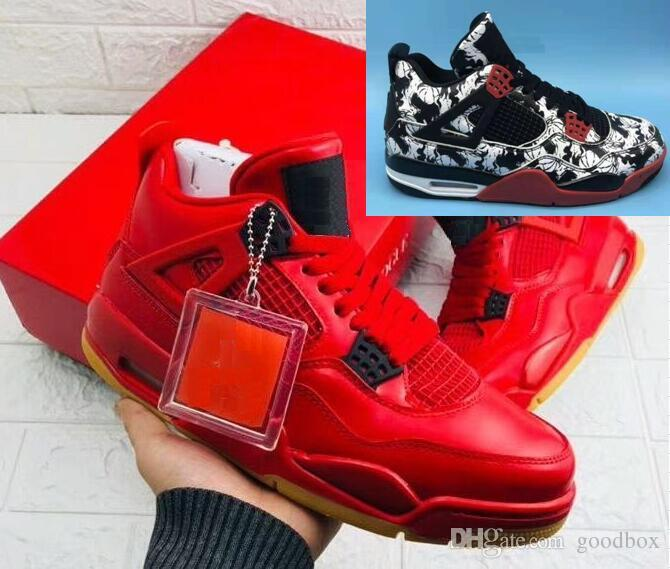 46c43f64c4d9 4 Singles Day 4 Tattoo Wholesale Basketball Shoes BQ0897 006 Best Quality  Men Women With Box 4e Basketball Shoes Loafers For Men From Goodbox