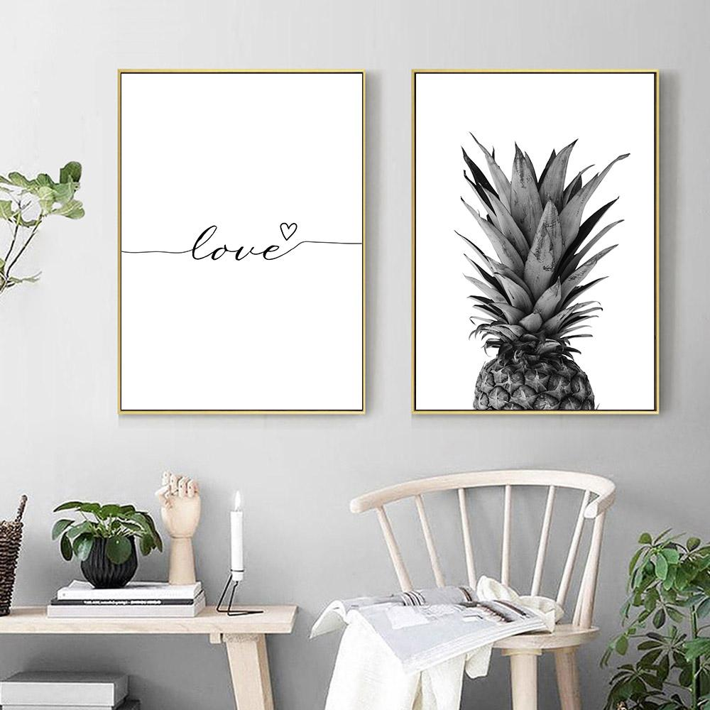 charming Pineapple Wall Art Part - 10: 2019 Pineapple Wall Art Canvas Abstract Painting Minimalist Nordic Posters  And Prints Letter Art Decorative Pictures Home Decor From Aliceer, ...